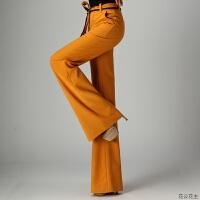 高腰坠感阔腿裤长裤子女2018秋冬季新款港味直筒西装垂感微喇叭裤