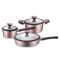 DESLON德世朗 炒锅汤锅不粘煎锅具组合三件套装DFS-TZ918B厨房家用电磁炉燃气灶适用