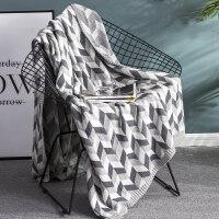 风纯棉针织毛毯 夏季全棉毛巾被薄毯午睡空调毯单人沙发毯子 120*180cm(0.9kg)