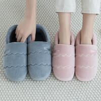 包跟棉拖鞋女冬季情侣家用家居室内月子保暖毛绒学生宿舍棉鞋男士