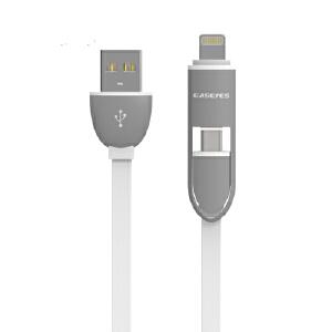 【当当自营】Easeyes爱易思 E626充电线苹果/安卓二合一面条充电数据线(白色)适用iPhone7/ iPhone6s/6plus苹果7手机 充电数据线  好用更耐用