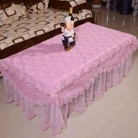 紫色茶几桌布餐桌台布床头柜罩防尘蕾丝盖布盖巾多用布艺定制