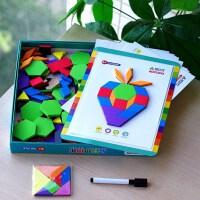 磁性几何形状拼图拼拼乐七巧板逻辑思维儿童早教益智拼板3-5-7岁