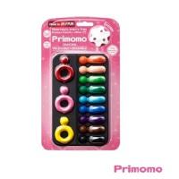 Primomo 日本进口儿童安全无毒蜡笔 指环12色当当自营