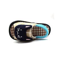 春秋男童1-6岁小童儿童婴儿居家宝宝防滑棉布拖鞋