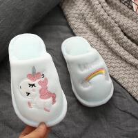 儿童棉拖鞋秋冬季女男童小孩宝宝防滑家用室内地板棉拖亲