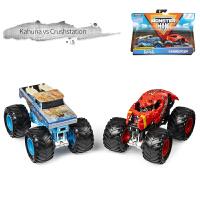 怪物卡车MONSTER JAM1:64儿童玩具车越野怪兽大脚车攀爬惯性合金小汽车模型回力大轮车两只装