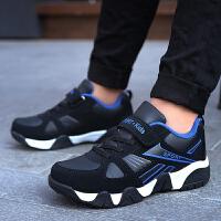 【1件2折折后�r:56元】富�F�B男童鞋子2021新款秋款小�W生跑步革面男孩中大童秋季�和��\�有�男