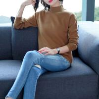 打底衫女秋冬季新款女装毛衣半高领纯色针织长袖短款宽松上衣韩版打底衫潮