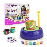 儿童玩具小学生电动软陶泥粘土陶艺机 幼儿园手工制作diy陶泥教具 陶泥机+2块泥土送电池
