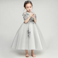 儿童公主裙女童长袖蓬蓬婚纱小主持人晚礼服