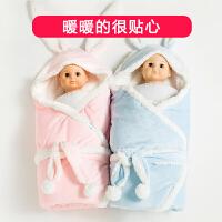 婴儿抱被包被秋冬宝宝用品小被子厚睡袋抱毯