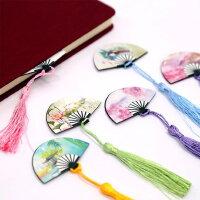 装扇子磁性书签复古典中国风创意小清新学生用磁铁精美