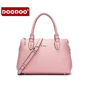 【支持礼品卡】DOODOO 2017新款包包女包欧美风范OL手提包时尚简约百搭单肩斜跨女士包包 D5133