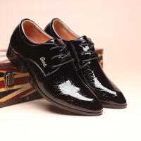 新款正装皮鞋男婚鞋潮流英伦发型师商务休闲男鞋潮鞋