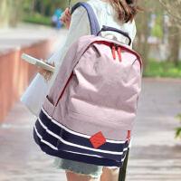防水尼龙布韩版休闲双肩包电脑旅行包初中生高中学生书包男女背包