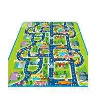 儿童地毯城市车道马路跑道交通地垫幼儿园家用卧室宝宝爬爬行垫子 交通城市游戏垫 单面
