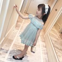 童装儿童夏装女童裙子蕾丝纱裙女宝宝连衣裙
