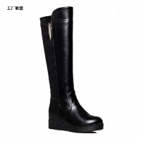 秋冬新款加绒内中筒靴新到商品筒女靴棉靴女士长靴显瘦女靴子