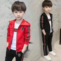 儿童套装 男童春秋套装2020薄款男孩中大童儿童韩版时尚运动休闲卫衣三件套