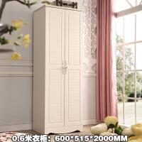 韩式田园2门小衣柜60cm宽单人双门衣橱70cm 两门0.7米 0.8米 2门