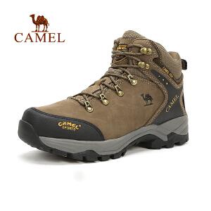 camel骆驼户外情侣款登山鞋 秋季防滑透气高帮登山鞋