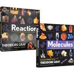 英文原版 Molecules Reactions 3册 视觉探索之旅 神奇的化学元素 分子反应 自然科学原理 青少年科