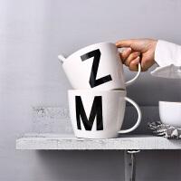超大碗杯子早餐杯燕麦杯牛奶杯麦片杯陶瓷水杯带盖勺马克杯大容量