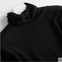 新年礼物毛衫女堆堆领毛衣秋冬新款加厚打底针织毛衫套头短款