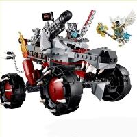 10058气功传奇赤马神兽 鹰杰斯狼族战车追捕车拼装积木玩具