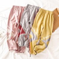 女童春装运动裤童装宽松休闲裤大童儿童长裤女孩裤子洋气