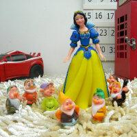 白雪公主和七个小矮人迪士尼手办模型人偶摆件 硬体公仔 玩偶模型