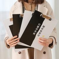 韩版卡通A4板夹小清新木质文件夹板大号写字垫板办公资料夹试卷夹