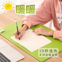 暖桌垫加热鼠标垫单色桌垫发热垫办公室桌面电热垫学生写字暖手垫 60*36cm 绿色