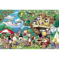 1000片夜光拼图 新年礼物夜光拼图1000片木质风景动漫儿童玩具梦幻城堡