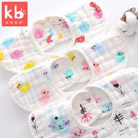 宝宝吃饭围兜360度旋转夏季薄款婴儿棉纱布围嘴口水巾