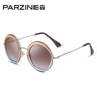 帕森时尚复古偏光太阳镜女士潮墨镜圆框中国风司机开车驾驶镜9516