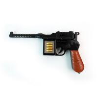 1-3-5岁儿童玩具枪声光毛瑟枪电动投影宝宝男小孩玩具枪 典雅黑 黑毛瑟枪 套餐