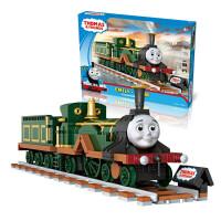 托马斯积木玩具 托马斯轨道小火车拼装积木詹姆斯6-12岁男孩拼装模型玩具 军绿色 1801