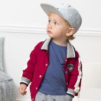davebella戴维贝拉2020春季新款男童外套宝宝卡通上衣DBW12887