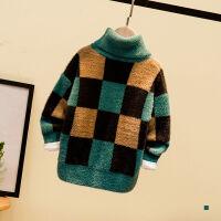 男童毛衣秋冬装高领长袖保暖中小儿童针织衫潮衣