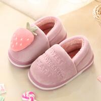 儿童棉拖鞋包跟女童冬季公主韩版中大童室内毛拖鞋冬