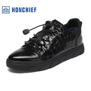 红蜻蜓旗下品牌 HONCHIEF男鞋休闲鞋秋冬鞋子男板鞋KTA1016