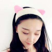 束发带 女士化妆敷面膜猫耳朵发带2020新款韩版女式卡通洗漱洗脸化妆发套发饰箍头箍
