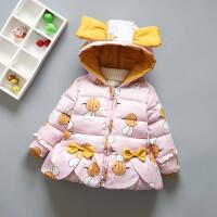 女宝宝婴儿棉衣外套加绒加厚1-3-4岁2小女童棉袄冬季韩版