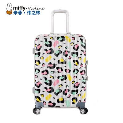 Miffy米菲 2016春夏新20寸/24寸铝框拉杆箱万向轮 硬箱时尚旅行密码箱登机行李箱