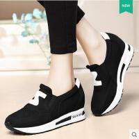 盾狐运动鞋女新品内增高女鞋韩版学生N字跑步鞋阿甘鞋潮8551
