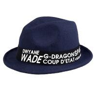 新款时尚纯羊毛呢帽子女士圆顶复古英伦小礼帽平沿毡帽可爱