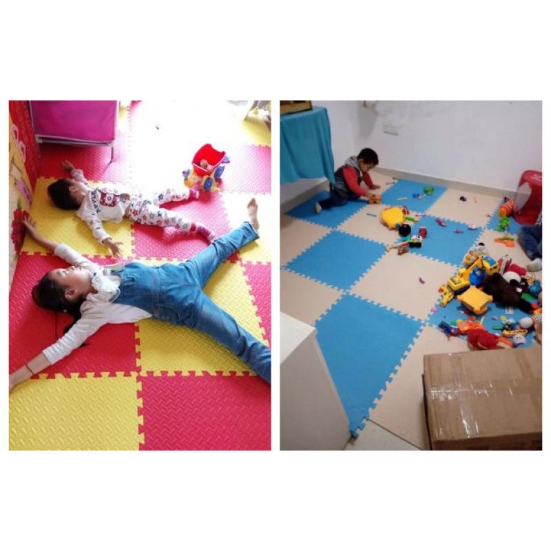 【40片装】泡沫地垫拼图地毯卧室铺地板垫子儿童爬行垫拼接爬爬垫 红色 60*60*1.2cm【10片】