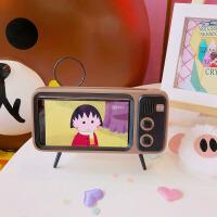 手机桌面支架 复古电视收音机 可爱创意蓝牙音箱大音量小型懒人支架